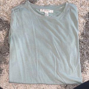Green Plain Soft Long Tee Shirt